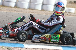 Former SuperNationals winner Chris Jennings sporting the Mezzo Kart Radiator at the SKUSA Pro Tour SpringNationals (Photo: EKN)