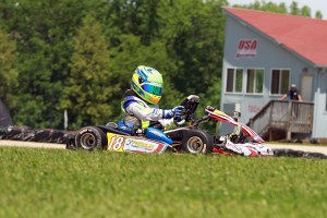 Caleb Bacon piloting the Parolin chassis around the US Air Motorsports Raceway (Photo: EKN)