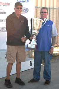 Doug Fleming and Silver Cup for Engine Builder