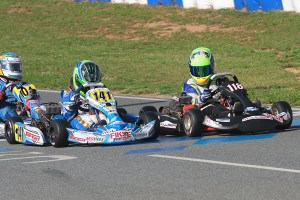 Kaden Wharff's action after the checkered flag Saturday in Yamaha Cadet cost his the rest of the weekend (Photo: EKN)