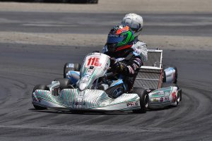 Colby DuBato drove to victory for the first time in the new X30 Pro category (Photo: KartRacerMedia.com)