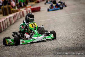 Devin Smith-Harden piloting his TB Kart / 80cc machine at SIRA