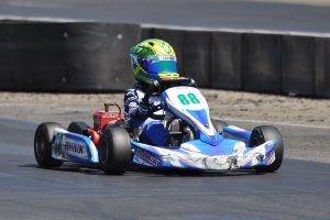 Carson Morgan doubled up once again, winning in Junior 1 Comer and Mini Swifth (Photo: Kart Racer TV)