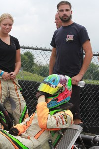 Jake Venberg back behind the wheel after a broken collar bone in July (Photo: EKN)