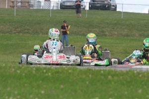 Lance Fenderson proved to be the best on the weekend, winning a second in IAME Junior (Photo: EKN)