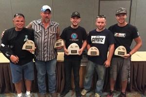 Cal Stewart with his five Rock Island Grand Prix trophies (Photo: EKN)