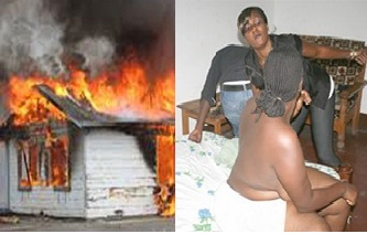 Woman CATCHES Hubby cheating with friend, sets house on FIRE