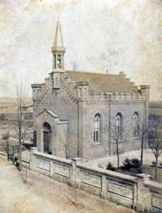 Die Christuskirche vor dem Bau des Kirchturms