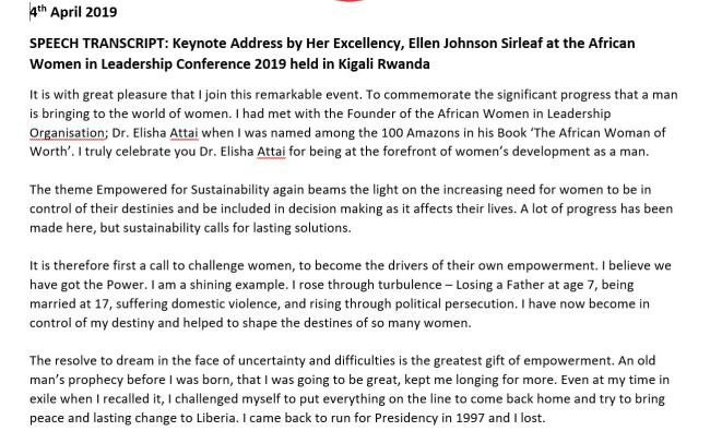 ellen-johnson-sirleaf's speech