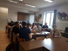 studentai, R. Bučienė ir dr. A. Kawecka