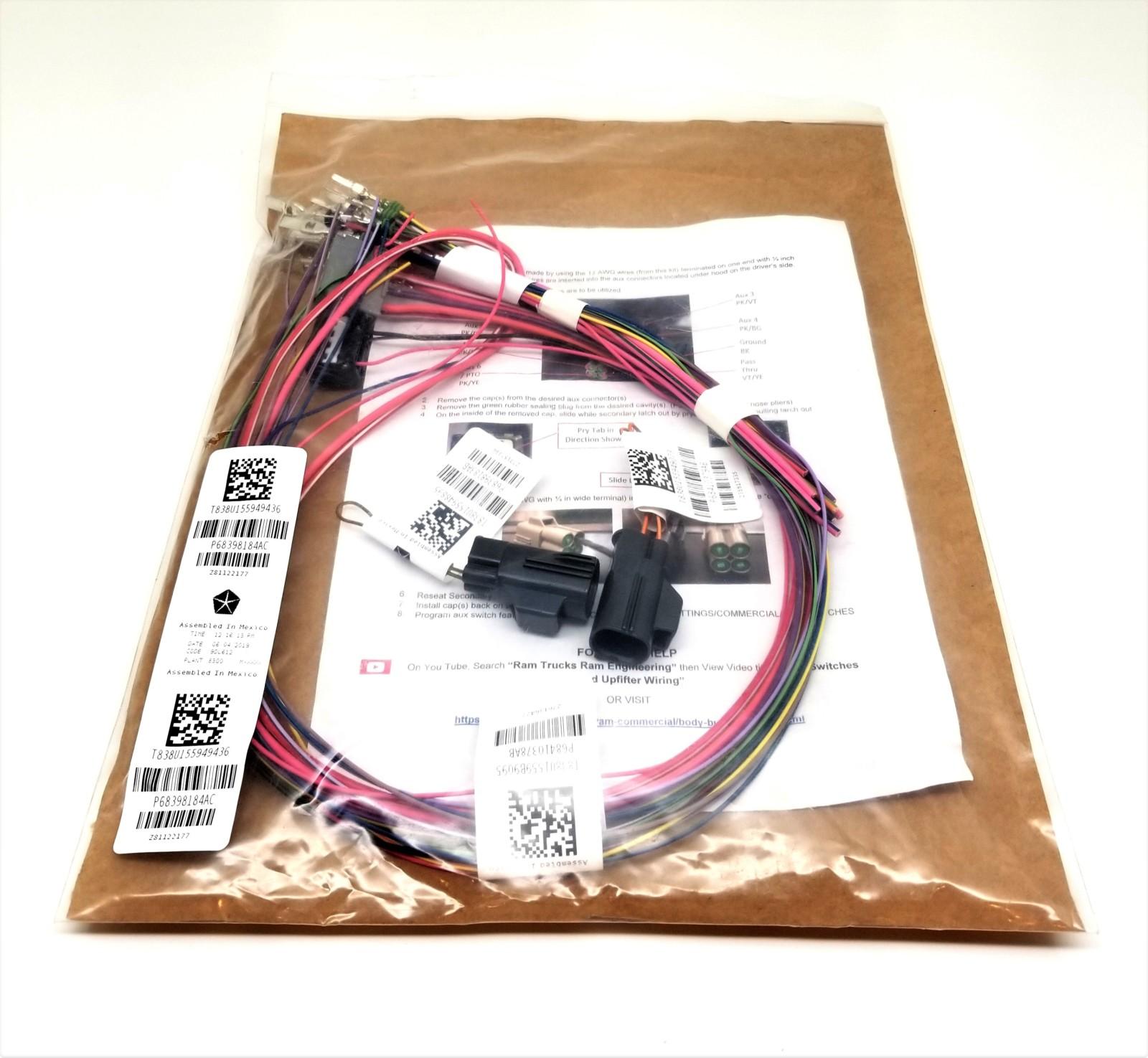 Genuine Dodge Ram 2500  3500 Auxiliary Switch Upfitter Wiring Kit  U2013  P68398184ac  U2013 New