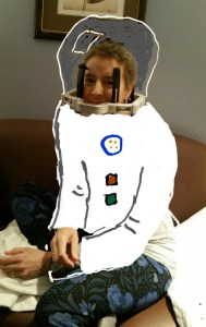 Eric has fun drawing on a picture of me with his phone