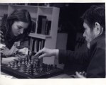 oan La Barbara and John Cage playing chess before a rehearsal at his loft photo: © 1976 Michael McKenzie