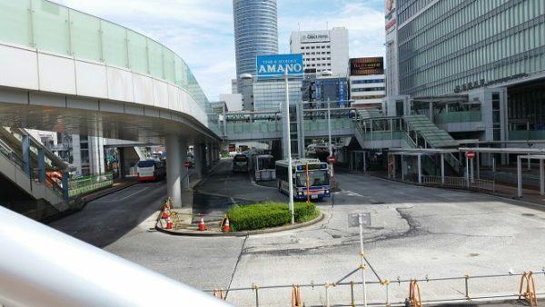 新横浜駅のバスターミナル