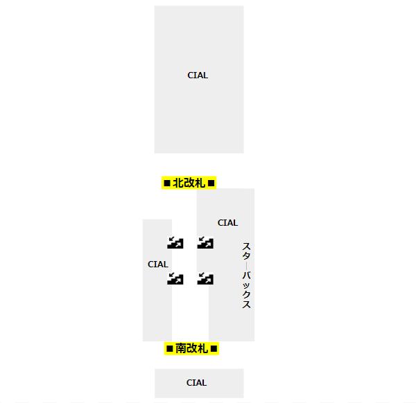 桜木町駅構内図(JR)改札階