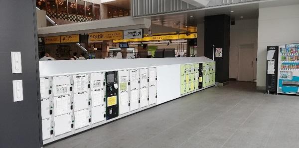 川崎駅の中央北改札の前のロッカー