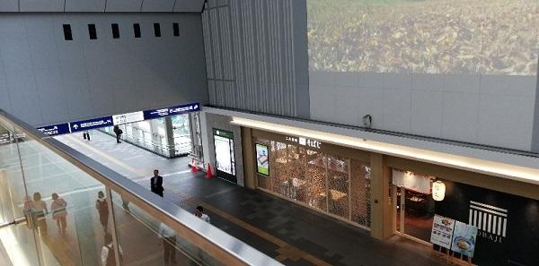 川崎駅の北通路をアトレ川崎から見下ろした写真(そばじ)