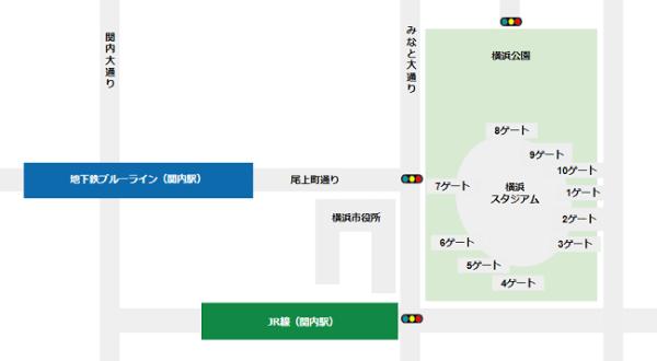 横浜スタジアム各ENTRANCEマップ