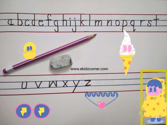 How to Write small letters in PRINT (lower case) a to z - eKidzcorner