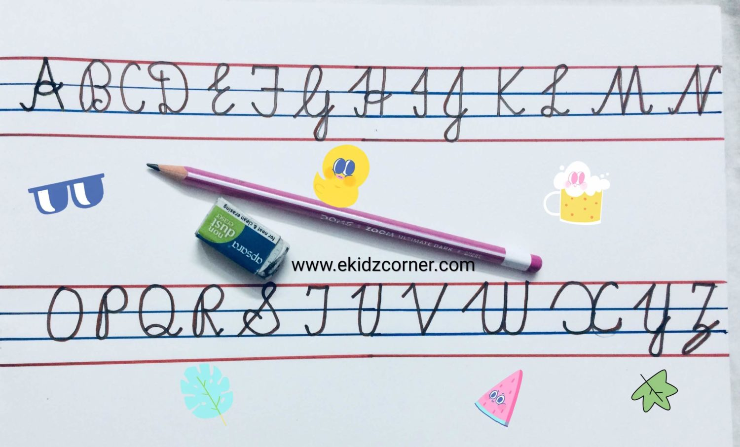 How To Write Capital Letter Upper Case In Cursive Writing