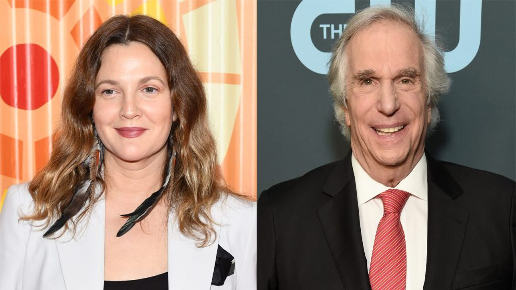 Drew Barrymore says Henry Winkler 'changed my life forever' with his kindness