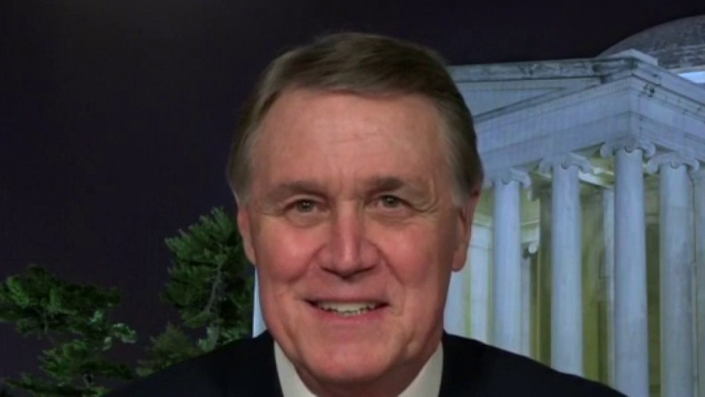 Georgia Republican Sen. Perdue urges voters to reelect him and 'save America'