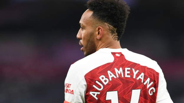 Caf fines Aubameyang as Gambia consider appeal
