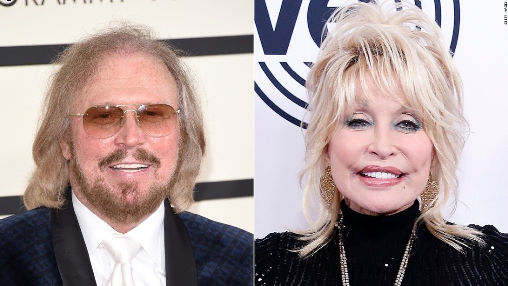 Barry Gibb and Dolly Parton remake the Bee Gees classic song 'Words'