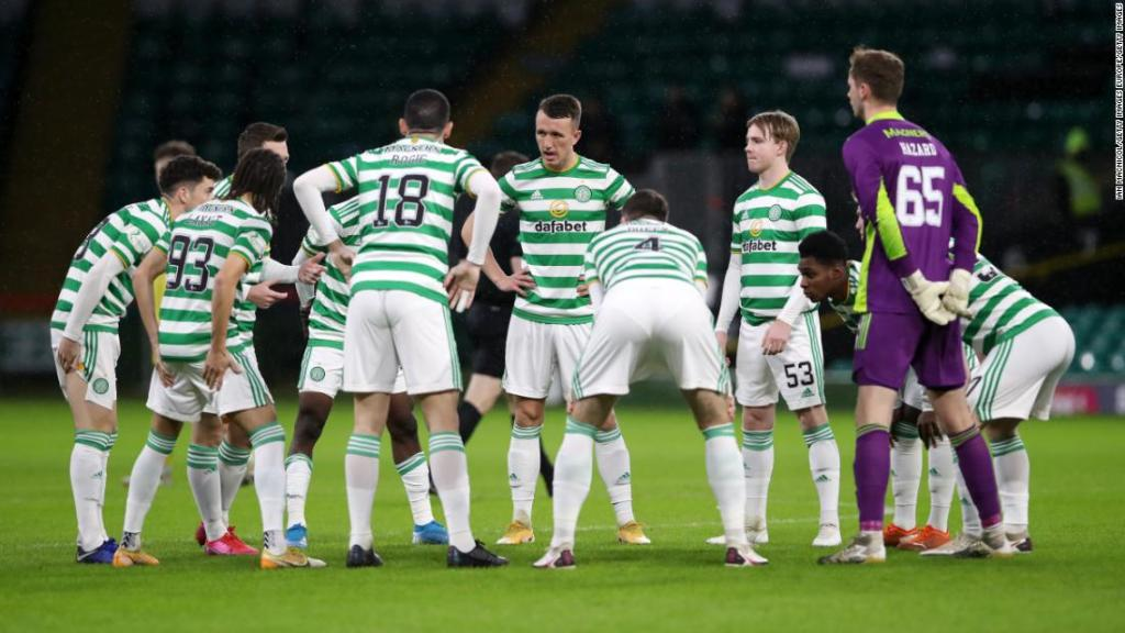 Celtic draws with Hibernian after 15 players and coaching staff forced to self-isolate