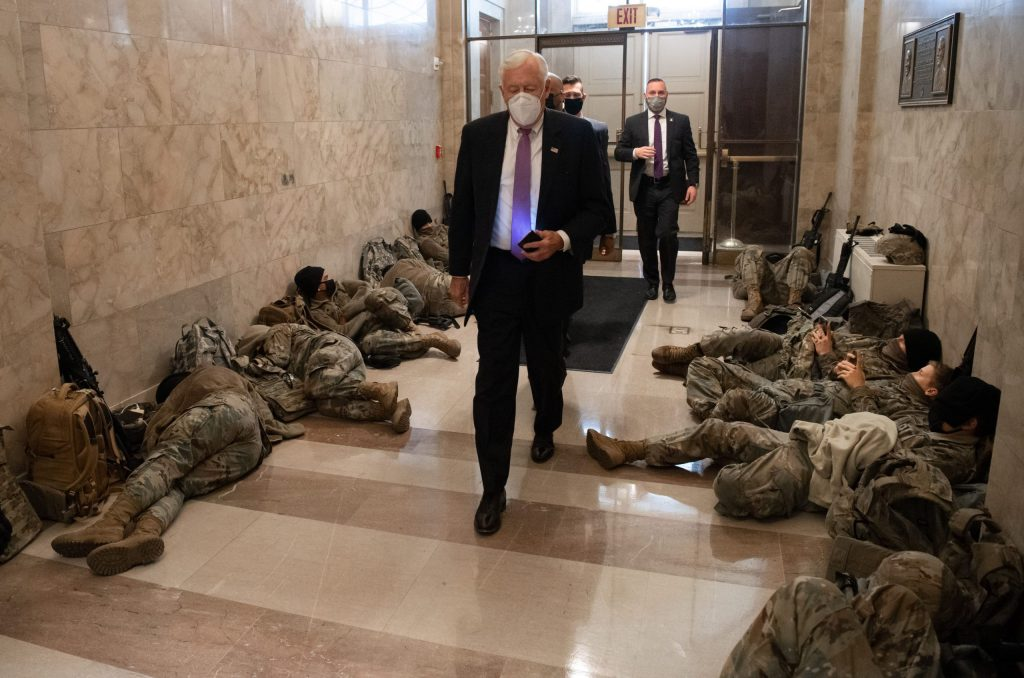 National Guard protects Congress during Trump impeachment debate at the Capitol