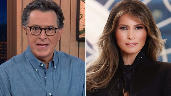 Stephen Colbert, 'The Late Show' give Melania Trump a 'F--- You' sendoff