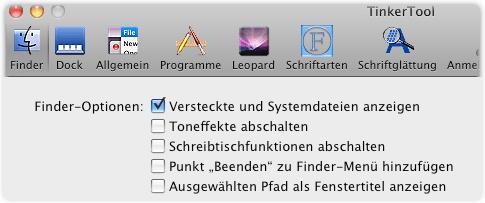 tinker tool finder options