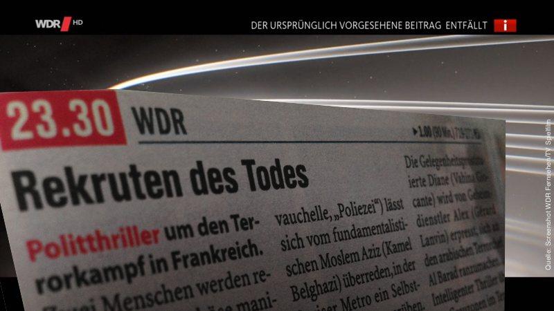 """Ausschnitt aus der TV-Zeitschrift; Film """"Rekruten des Todes"""""""