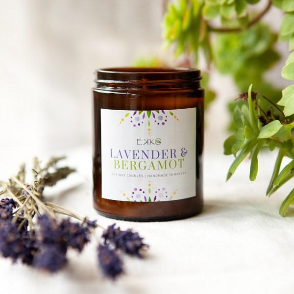 Lavender & Bergamot Soy Wax Candle
