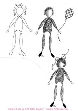How to draw CZT Billie Lauder's Tangle Folk:
