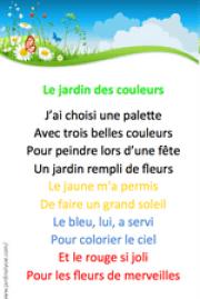 Comptine jardin couleurs