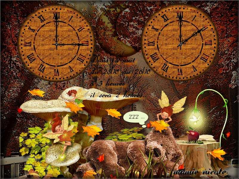 ♥♥ encore un changement d'heure.....♥♥