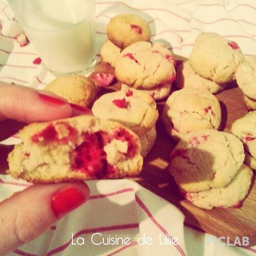 Cookies aux Pralines Roses et à la purée d'amandes