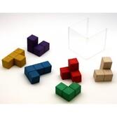 Cube SOMA 6 cm composé de cubes 2 x 2 cm en bois recomposé écolo