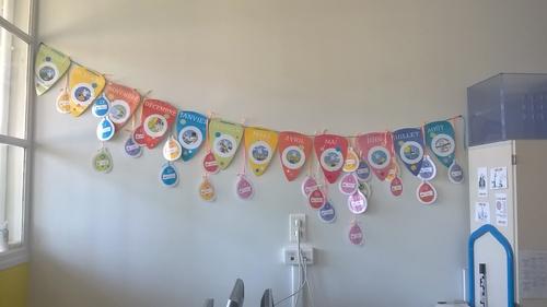Les fanions des anniversaires sur une idée de Validees!