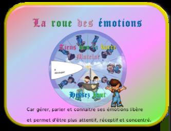 La roue des émotions - Les images-mots