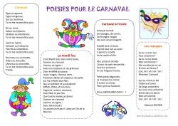 Poésies pour le carnaval