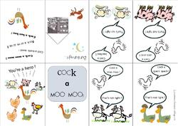 "Mini book ""Cook a moo moo"""