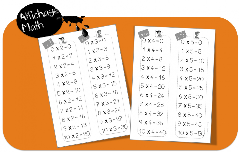 Proposes Pour Table De Multiplication A Imprimer Format A4