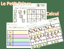 Le petit prince carnet d'exercices en math