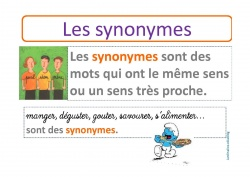 Les synonymes affiche
