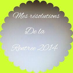 Résolutions de la rentrée