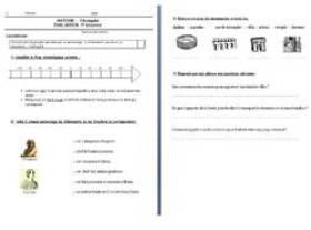 Evaluations 1er trimestre CE2 et CM1