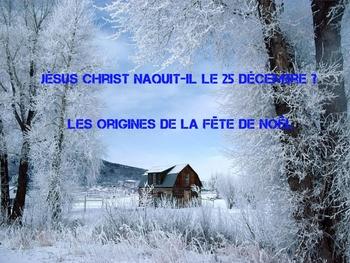 Quel jour Jésus-Christ est-il né ?