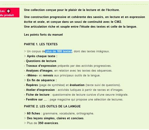 Présentation manuel français